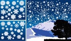 Snow Flakes Winter Theme