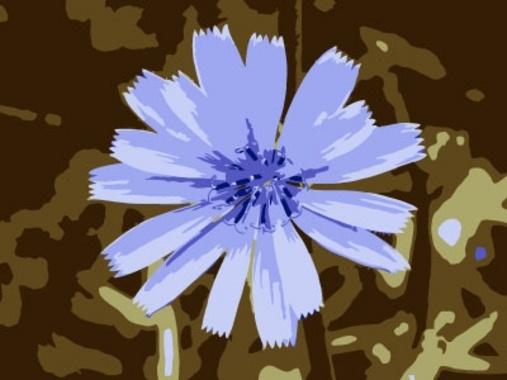 Blue vector flower