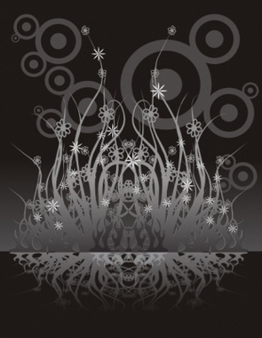 In da dark of garden. Vector Composition