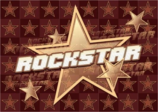 Rock Star Vector Graphic