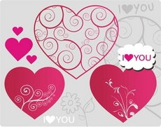 Valentines Theme. Vector Hearts.