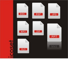 Vector Icons Set. File: Corel Draw 11 CDR* Zipped.