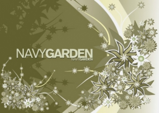 Free Vector Composition Navy Garden