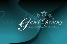 Grand Opening Vector Design
