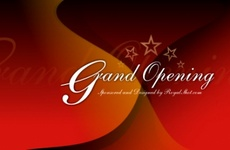 Dark Red Grand Opening Vector Design