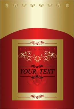 Red and Gold Free Vector Cover Design
