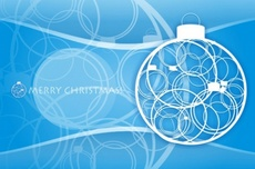 Blue Christmas Theme Vector Graphic