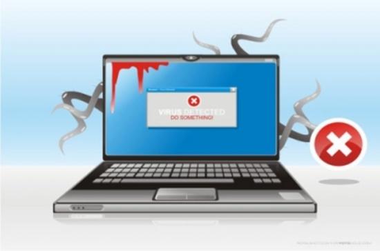 Infected Laptop Vector