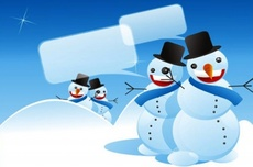 Funny Vector Snowmans