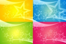 4 Color Stars Vectors Background