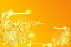 Orange Abstract Vector Design