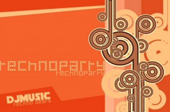 Free Techno Party Vector Graphic