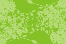 Free Green Vector Background with Plants