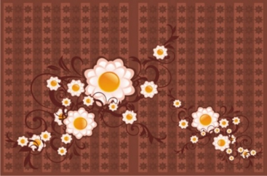 Free Brown Vector Design with Flower