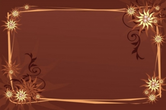Free Brown Vector Design with Ornaments