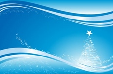 Blue Christmas Postcard Design
