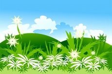 Free Green Landscape Vector