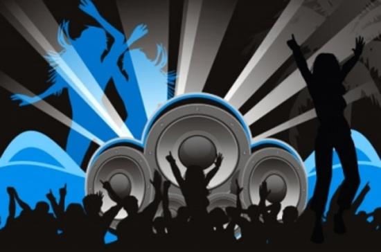 Techno Party Vector Graphic