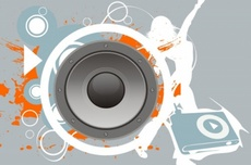 Vector Bass Speaker Graphic