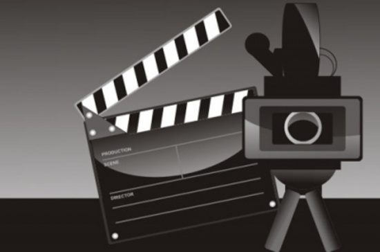 Film Camera and Clips Vector