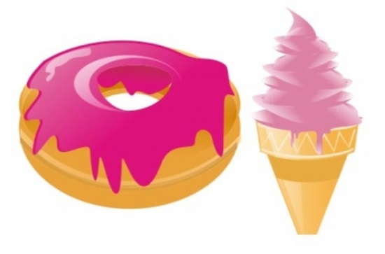 Vector Donuts and Icecream Vectors