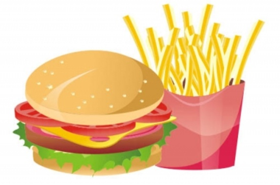 Vector Hamburger and French Fries