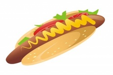 Vector Hot Dog Graphic