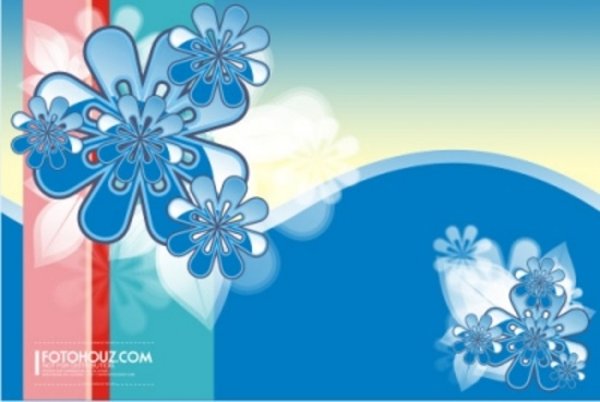 Floral Free Vector Theme