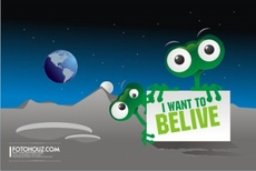 Alien Free Vector - I want to Believe