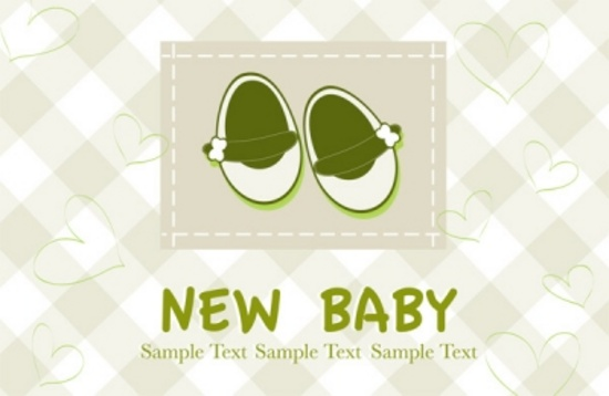 New Baby Arrival Postcard