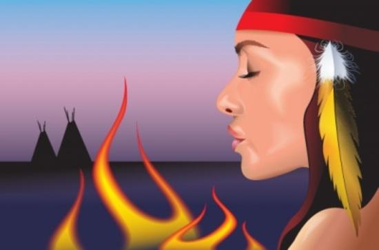 Native American Girl Illustration