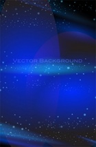 Blue Glowing Stars Vector Background