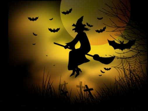 Halloween Witch Vector Graphic