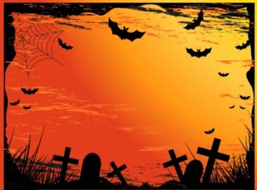 Halloween Graveyard - Scary Cemetery