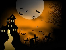 Halloween Vector - Haunted House
