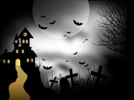 Scary Halloween House - Vector Design