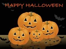 Happy Halloween Pumpkins Vector