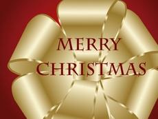 Golden Christmas Bow Vector