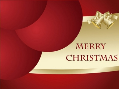 Free Merry Christmas Vector Card