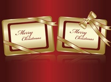 Merry Christmas Vector Tags