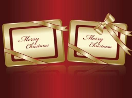 Merry Christmas Vector Tags