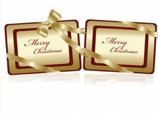 Free Golden Christmas Tags