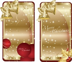 Golden Christmas Vector Tags