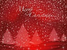 Merry Christmas Free Vector Postcard Design
