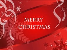 Merry Christmas Holiday Vector Graphic Card