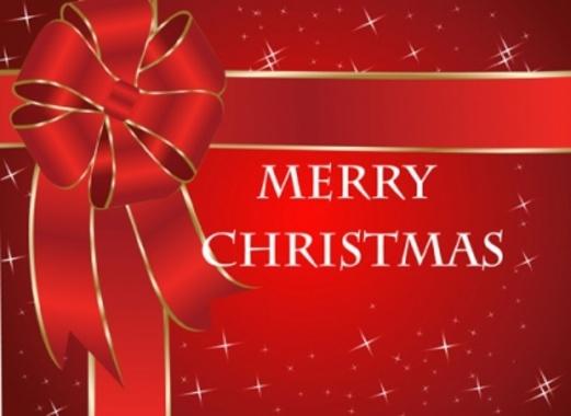 Burgundy Christmas Vector Card Design