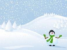Holiday Snowman - Winter Vector Theme