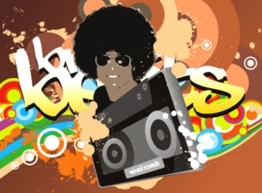 Afro Music Beat Break Vector