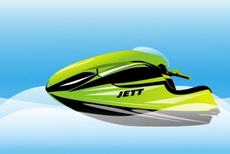 Jet-ski Free Vector Illustration
