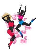80s Disco Dancers Vector